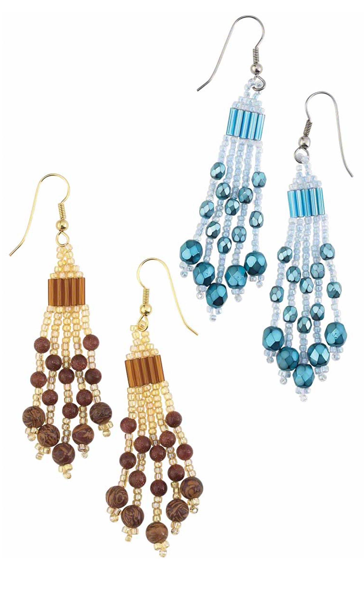 Jewelry Design Earrings With Gemstone Beads Czech Fire