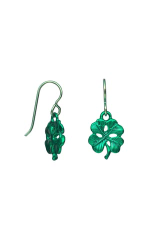 Jewelry Design - Earrings with Epoxy Pewter Clover Charmsand Beads