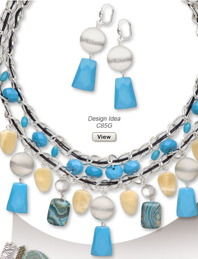 Design Idea C85G Necklace and Earrings