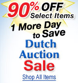 Dutch Auction Sale Extended! 90%