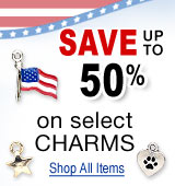 Charms Made in the USA - Save up to 50