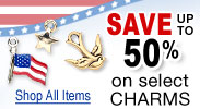 Charms Made in the USA - Save up to 50%