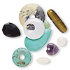 Bead / drop / focal mix, multi-gemstone (natural / dyed / coated / manmade / imitation) and glass, mixed colors, 13x12mm-45x45mm mixed shape, C grade. Sold per pkg of 10.