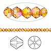Bead, Swarovski crystal, Crystal Passions®, crystal astral pink, 3mm Xilion bicone (5328). Sold per pkg of 48.