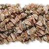 Bead, autumn jasper (natural), chip, Mohs hardness 6-1/2 to 7. Sold per pkg of (10) 36-inch strands.