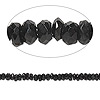 Bead, black spinel (natural), 2x1mm-4x2mm hand-cut faceted rondelle, B- grade, Mohs hardness 8. Sold per 14-inch strand.