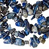 Bead, lapis lazuli (natural), medium chip, Mohs hardness 5 to 6. Sold per 36-inch strand.