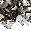 Bead mix, black lip shell (natural), small to gigantic chip, Mohs hardness 3-1/2. Sold per 1/2 pound pkg, approximately 750-900 beads. Minimum 4 per order.