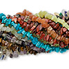 Bead mix, multi-gemstone (natural / dyed / heated / manmade), large chip. Sold per pkg of (10) 34-36 inch continuous strands.