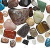 Bead mix, multi-gemstone (natural / dyed / manmade / imitation) and glass, mixed colors, small to large tumbled nugget. Sold per 1/4 pound pkg, approximately 40 beads.