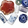 Bead mix, porcelain, mixed color, 6-30mm mixed shape. Sold per pkg of 25.