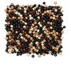 Bead mix, wood, mixed colors, 5x4mm rondelle. Sold per 90-gram pkg, approximately 2,400 beads.