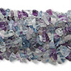 Bead, rainbow fluorite (natural), medium chip, Mohs hardness 4. Sold per pkg of (10) 36-inch strands.