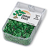 Bugle bead, Ming Tree™, glass, silver-lined emerald green, 1/4 inch. Sold per pkg of 1/4 pound.