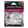 "Earwire, Blue Moon Beads®, silver-finished ""pewter"" (zinc-based alloy), 26x12mm flat fishhook triangle with 3 loops and 29x12mm flat fishhook diamond with 3 loops. Sold per pkg of 18 pairs."