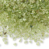 Embellishment, peridot (natural), undrilled mini chip. Sold per 50-gram pkg.