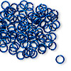 Jumpring, anodized tempered aluminum, dark blue, 6mm round, 18 gauge. Sold per pkg of 100.