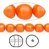 Pearl, Swarovski crystal, neon orange, 8mm baroque (5840). Sold per pkg of 250.