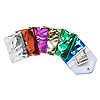 Pouch, nylon, assorted metallic colors, 3x2-1/2 inches with snap and zipper. Sold per pkg of 12.