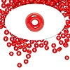 Seed bead, Dyna-Mites™, glass, opaque red, #8 round. Sold per 40-gram pkg.