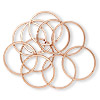 Split ring, copper-finished steel, 56mm round. Sold per pkg of 10.
