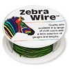 Wire, Zebra Wire™, color-coated copper, green, round, 18 gauge. Sold per 10-yard spool.